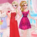 Frozen Sister Rose Style Fashion